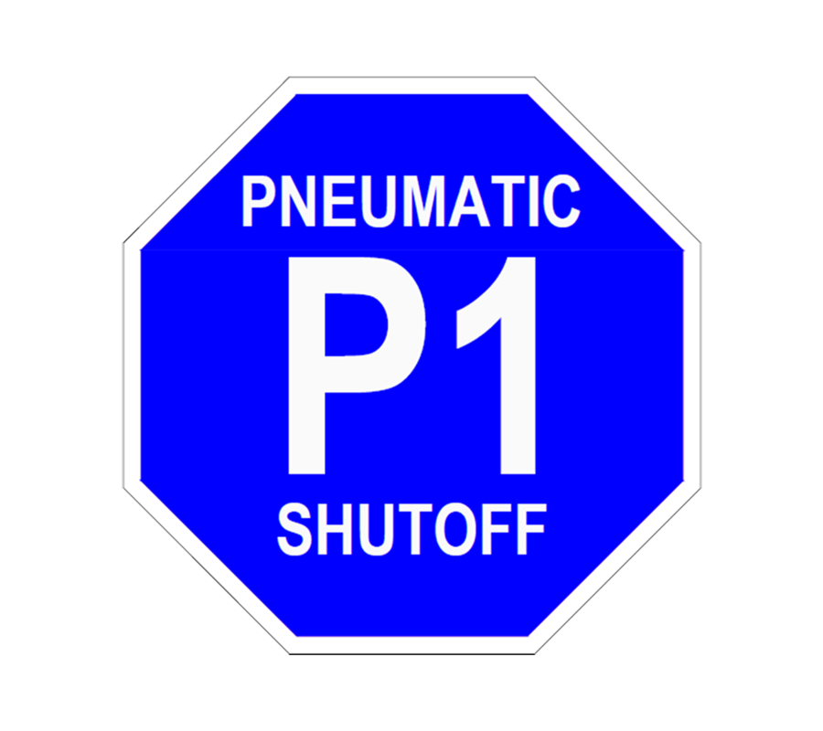 Pneumatic Shutff P1 Lockout Tag